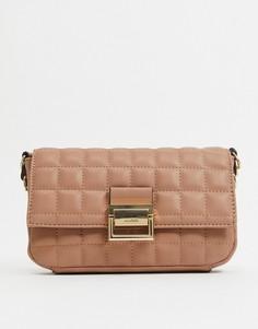 Бежевая сумка на плечо с ремешком-цепочкойALDO-Бежевый