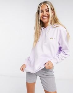Худи фиолетового цвета с логотипом-галочкойNike-Фиолетовый