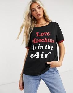 Черная футболка с логотипом Love Moschino-Черный