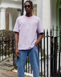 Сиреневая свободная футболка из плотного трикотажа ASOS WHITE-Фиолетовый