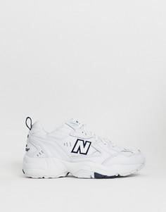 Белые кроссовки на толстой подошве New Balance 608-Белый