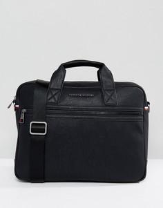 Черная сумка для ноутбука Tommy Hilfiger-Черный