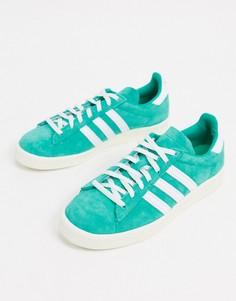 Зеленые кроссовки в стиле 80-х adidas Originals Campus-Зеленый