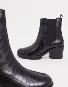 Черные ботинки челси на массивной подошве и каблуке Dune-Черный