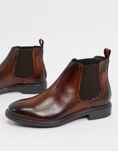 Коричневые кожаные ботинки челси Base London-Коричневый