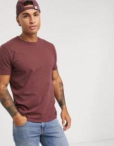 Бордовая футболка с круглым вырезом Abercrombie & Fitch-Красный
