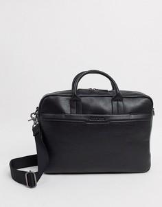 Черная сумка для ноутбука с карманом Calvin Klein-Черный