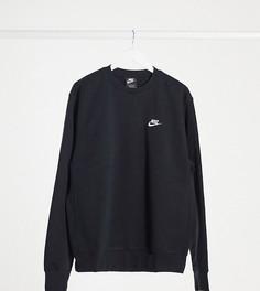 Черный свитшот с круглым вырезом Nike Tall Club