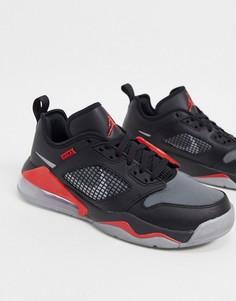 Черные кроссовки с серебристыми вставками Nike Jordan Mars 270-Черный