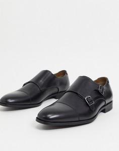 Черные кожаные монки ALDO-Черный