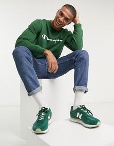 Зеленый свитшотс логотипомChampion