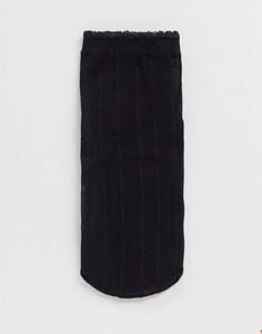 Черные прозрачные носки с полоскамиASOS DESIGN-Черный