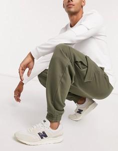 Oversized-джоггеры цвета хаки с карманами карго ASOS DESIGN-Зеленый