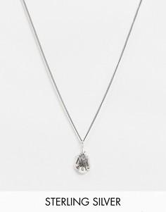 Серебряное ожерелье-цепочкатолщиной1 ммASOS DESIGN-Серебряный