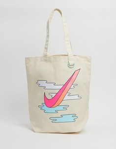 Парусиновая сумка-тоут Nike Heritage-Бежевый