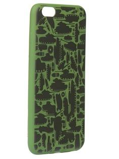 Чехол Krutoff для APPLE iPhone 6/6S Plus Technics Military Green 10321