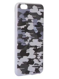 Чехол Krutoff для APPLE iPhone 6/6S Plus Pattern Military Grey 10318