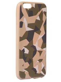 Чехол Krutoff для APPLE iPhone 6/6S Polygonal Military Green 10331