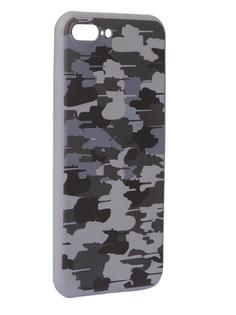 Чехол Krutoff для APPLE iPhone 7/8 Plus Pattern Military Grey 10335