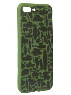 Чехол Krutoff для APPLE iPhone 7/8 Plus Technics Military Green 10339