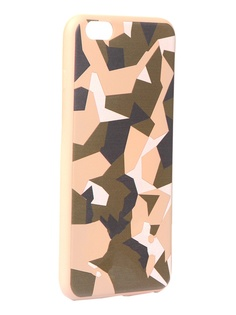 Чехол Krutoff для APPLE iPhone 6/6S Plus Polygonal Military Green 10320