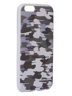 Чехол Krutoff для APPLE iPhone 6/6S Pattern Military Grey 10328