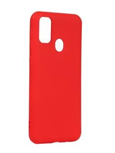 Чехол DF для Samsung Galaxy M21/M30s Silicone Red sOriginal-11