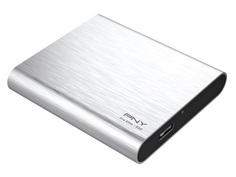 Твердотельный накопитель PNY Portable SSD Elite 1050S USB 3.1 Gen 1 960Gb Silver PSD1CS1050S-960-RB