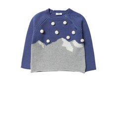 Шерстяной пуловер с помпонами Il Gufo