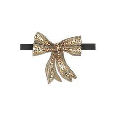 Шелковый галстук-бабочка с отделкой кристаллами Swarovski Dolce & Gabbana