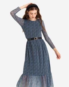 Платье макси с флористическим принтом Gloria Jeans