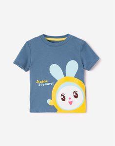 Голубая футболка «Малышарики» для малыша Gloria Jeans
