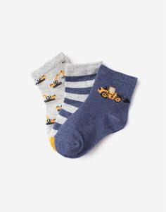 Носки с рисунками для мальчика 3 пары Gloria Jeans