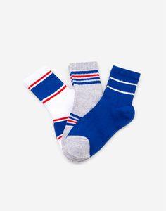 Носки в полоску для мальчика 3 пары Gloria Jeans
