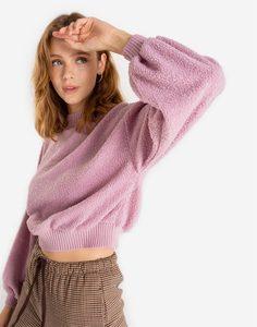 Розовый пушистый свитшот oversize Gloria Jeans