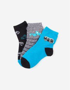 Носки с машинками для мальчика 3 пары Gloria Jeans