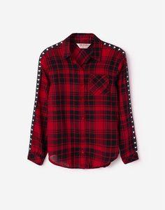 Клетчатая рубашка для девочки Gloria Jeans