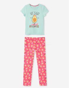 Пижама с авокадо для девочки Gloria Jeans