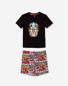 Пижама с принтом MARVEL для мальчика Gloria Jeans