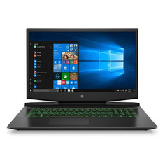 "Ноутбук HP Pavilion Gaming 17-cd1063ur, 17.3"", IPS, Intel Core i7 10750H 2.6ГГц, 16ГБ, 512ГБ SSD, NVIDIA GeForce RTX 2060 MAX Q - 6144 Мб, Windows 10, 22Q98EA, черный/зеленый"