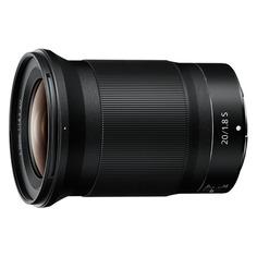 Объективы для фотоаппаратов Объектив NIKON 20mm f/1.8 Nikkor Z, Nikon Z, черный [jma104da]