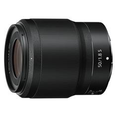 Объектив NIKON 50mm f/1.8 NIKKOR Z, Nikon Z, черный [jma001da]