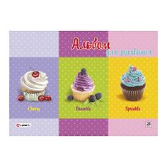 Альбом для рисования Lamark Пирожные 24 л 100 г/м2