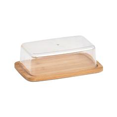 Масленка Zeller пластик/бамбук 19х12,5 см