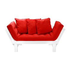 Кушетка AS Санди 158x77x61 белый/красный