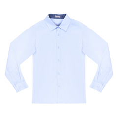 Сорочка для мальчиков КАРАМЕЛЛИ О14311 голубая 146