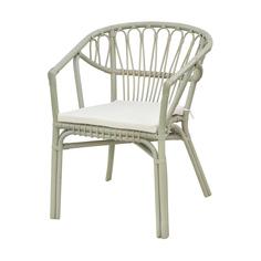 Стул Rattan grand alfresco с подушкой dark beige-grey