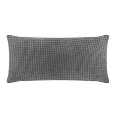 Подушка вафельная Homelines textiles solid 30х60см dk grey