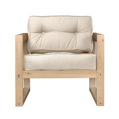 Кресло AS Алекс 80x73x65 сосна/белый