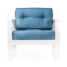 Кресло AS Алекс 80x73x65 белый/голубой